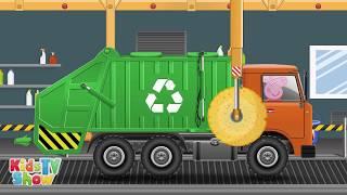 getlinkyoutube.com-Peppa Pig Garbage Truck - Peppa Pig Cartoon - Kids TV Show