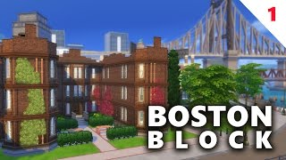 The Sims 4 House Building  | BOSTON BLOCK APARTMENTS (Part 1)