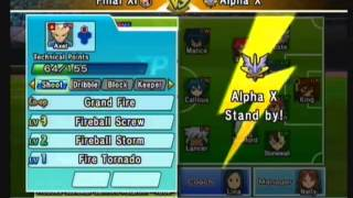 getlinkyoutube.com-Inazuma Eleven Strikers Wii | Custom Teams: Final XI vs Alpha X