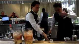 getlinkyoutube.com-Antarctica Cruise - Celebrity Infinity Ship - Flair bartender gets booze in his eye.MOV
