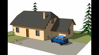 getlinkyoutube.com-Tuto Dessiner sa maison avec SketchUp, chapitre #1 : dessin d'une maison