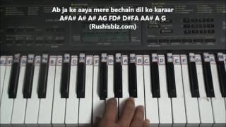 Dekha Hai Pehli Baar (Saajan) - Piano Tutorials