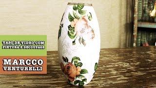getlinkyoutube.com-DIY - VASO DE VIDRO com pintura e découpage (Marcco Venturelli)
