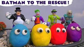 getlinkyoutube.com-Play Doh Thomas and Friends Batman Imaginext Joker Penguin Villain Disney Cars Toy Surprise Eggs