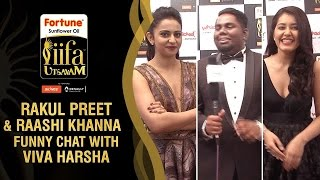 getlinkyoutube.com-Rakul Preet and Raashi Khanna Funny Chat with Viva Harsha | IIFA Utsavam 2016 Awards