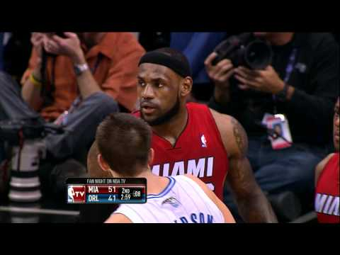 LeBron swats away the Howard slam!