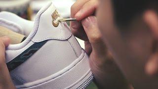 "getlinkyoutube.com-Process: SBTG for HYPEBEAST Nike Air Force 1 & Huarache ""AWOL Camo"""