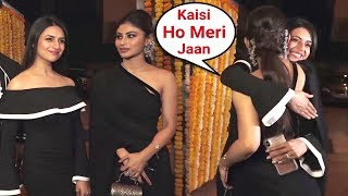 Divyanka Tripathi HUGS Mouni Roy At Ekta Kapoor Son Naamkaran Ceremony