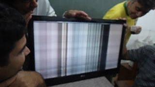 getlinkyoutube.com-TV LG: Imagem com efeito cachoeira e rolando. Como foi consertada.