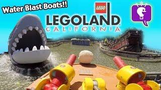 getlinkyoutube.com-LEGO Water Blast Boat Ride with Peppa Pig at Legoland California HobbyKidsTV