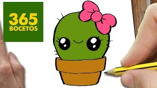 getlinkyoutube.com-COMO DIBUJAR UN CACTUS KAWAII PASO A PASO - Dibujos kawaii faciles - How to draw a cactus