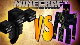 getlinkyoutube.com-WITHER VS GOLEM - Minecraft Batallas de Mobs - Mods