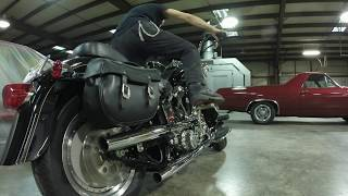 getlinkyoutube.com-Kick Start Install Harley Evo Evolution Fatboy