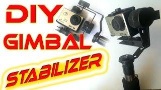 getlinkyoutube.com-Homemade Gimbal Action Camera stabilizer - tutorial DIY
