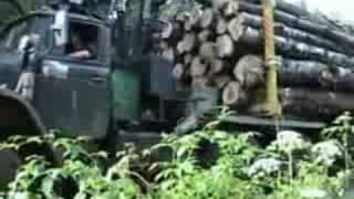 getlinkyoutube.com-Колея от лесовоза урал