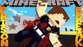 getlinkyoutube.com-Minecraft PRISON BREAK - SCUBA STEVE GETS SHOT!!!!