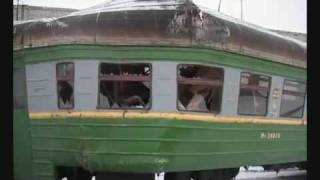 getlinkyoutube.com-Поезд врезается в тупик