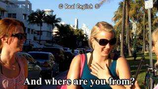 getlinkyoutube.com-Real English® - 3 b - What's your name? Can you spell it? Where are you from? - 2011 Update.