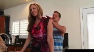 Hot Mom With Son At Home #1