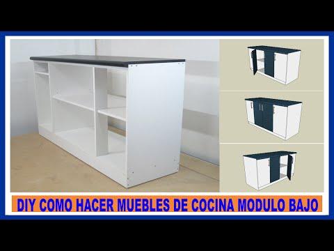 Como hacer muebles de cocina/ Módulo bajo de cocina en melamina/How to make kitchen cabinets