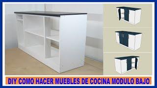 getlinkyoutube.com-Como hacer muebles de cocina/ Módulo bajo de cocina en melamina/How to make kitchen cabinets