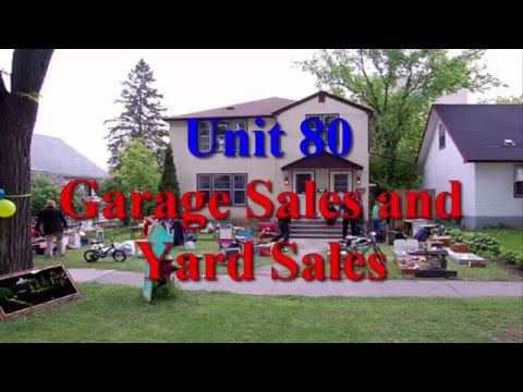 Unit 80 Garage Sales and Yard Sales | Learn English via Listening Level 4
