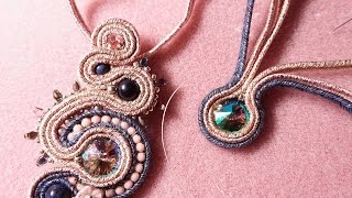 getlinkyoutube.com-DIY - Tutorial Soutache incastonatura rivoli senza colla