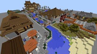 getlinkyoutube.com-Minecraft からくり温泉街【ワールド配布】