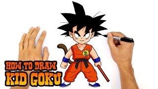 getlinkyoutube.com-How to Draw Kid Goku   Dragon Ball Z
