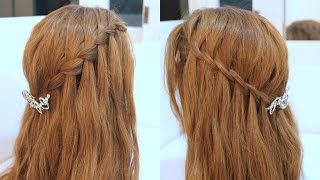 2款女神系瀑布編髮教學 waterfall braid tutorial
