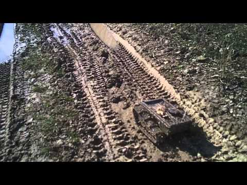 #26 Homemade RC tracked vehicle ( UGV ) - #1 Let's go mudding - J.Laci