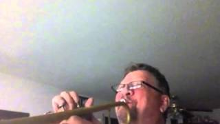 Coach bent note scale on trumpet to double B