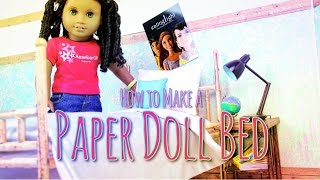 getlinkyoutube.com-DIY - How to Make: DOLL BED - Paper - Handmade - Doll - Crafts