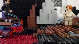 getlinkyoutube.com-LEGO STAR WARS EpisodeⅢ  Anakin Skywalker vs Obi-Wan Kenobi