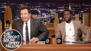 Kevin Hart FaceTimes Dwayne Johnson While Co-Hosting The Tonight Show width=