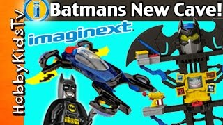getlinkyoutube.com-NEW IMAGINEXT Batman Toys Transforming Cave+Car! Blind Surprise Boxes By HobbyKidsTV