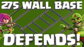 getlinkyoutube.com-Clash of Clans - UPDATED 275 WALL TH10 WAR BASE STILL UNDFEATED! LIVE DEFENSE!
