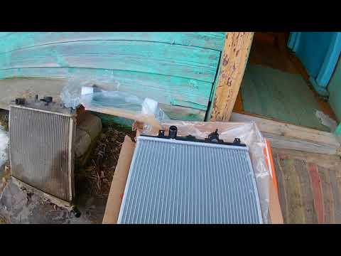 Замена радиатора на MAZDA Demio