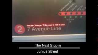 getlinkyoutube.com-R142 - 2 Train to New Lots Avenue Announcements [via 3 line]