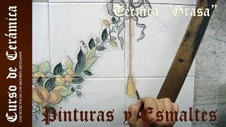 getlinkyoutube.com-Curso de Cerámica - Como Pintar un Azulejo con la Técnica a la Grasa