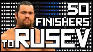 getlinkyoutube.com-WWE 2K15 | 50 Finishers to Rusev (PS4)
