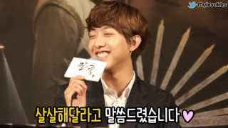 KBS수목드라마 칼과꽃 제작발표회 인터뷰