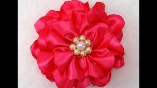 getlinkyoutube.com-DIY Quick and Easy Fabric Flower Tutorial, DIY, How to make