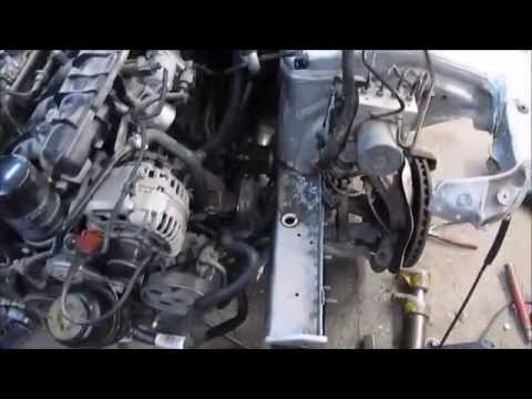 AUDI A4. Front part repair of the car. Ремонт переда машины.
