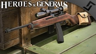 US MG42? 1028RPM M1/M2 Carbine - Heroes and Generals - US Soldier Gameplay