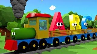 getlinkyoutube.com-Alfabet dla dzieci - Pociąg 3D | CzyWieszJak