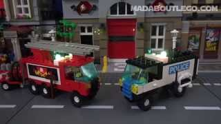 getlinkyoutube.com-LEGO FIRE and POLICE TRUCKS