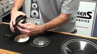 getlinkyoutube.com-Infinity Speaker Repair Kappa Woofer and Dome Midrange Replacement by Simply Speakers