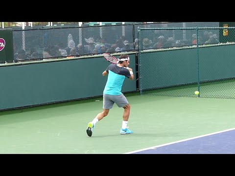 Roger Federer Slice Backhand Slow Motion - Indian Wells ATP (HD)