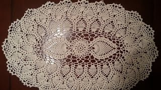 getlinkyoutube.com-Oval Pineapple Doily Part 1
